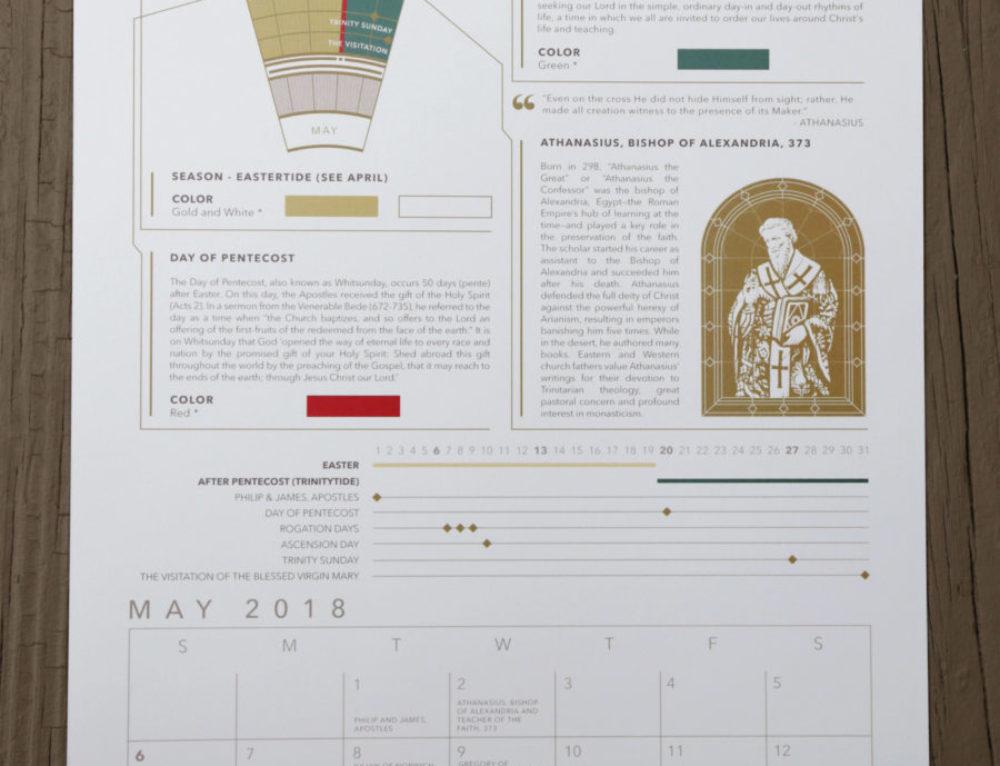 2018 Liturgical Calendar – ACNA