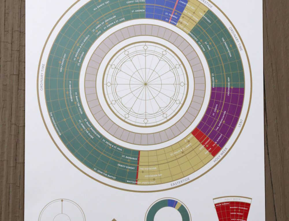 Liturgical Year Circle Print (11×17) – BCP '79