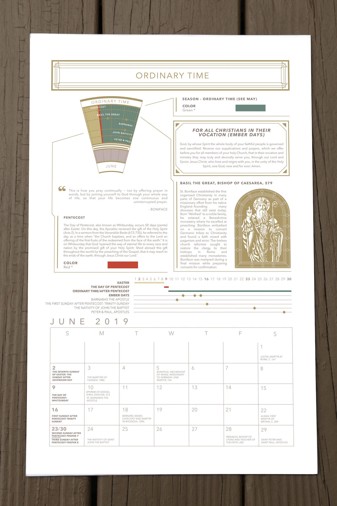 2019 acna liturgical calendar pre order modern liturgic